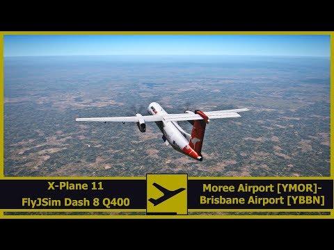 Exploring Australia | Moree [YMOR] - Brisbane [YBBN] | X-Plane 11 | FlyJSim Dash 8 Q400