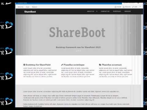 ShareBoot - Responsive SharePoint 2013 Theme - YouTube