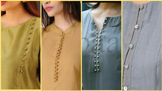 50+ Beautiful Neck Designs With Buttons For Kurti & Kameez