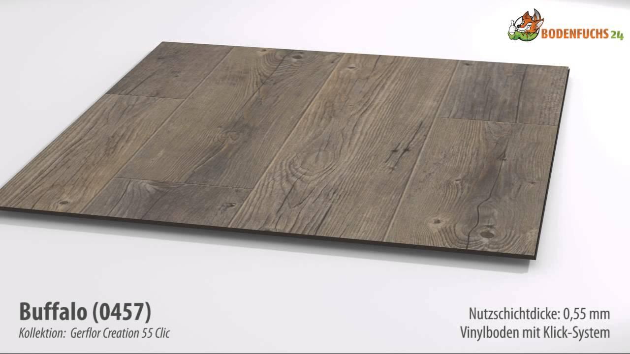 gerflor creation 55 clic - buffalo 0457 - klick-vinylboden auf