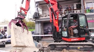 Holp RotoTop And MultiGrip On A Kubota KX080-4 Excavator Demo @ Bauma 2016