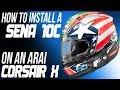 How To Install A Sena 10C Communicator on an Arai Corsair X Helmet from Sportbiketrackgear.com
