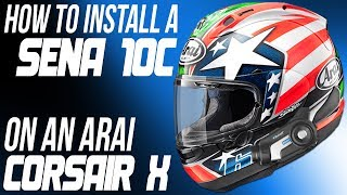 how to install a sena 10c communicator on an arai corsair x helmet from sportbiketrackgear com