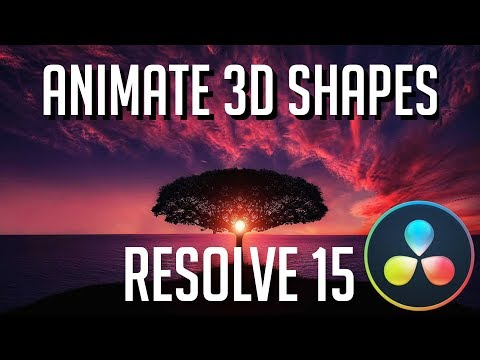 how-to-animate-and-light-3d-shapes-|-davinci-resolve-15-fusion-tutorial