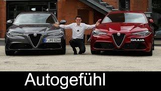 Alfa Romeo Giulia Super & Quadrifoglio FULL REVIEW test driven all-new neu 2017