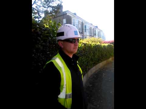 THIS IRISH WATER WORKER IS A BULLY HE PUSHED OAPs TO THE GROUND