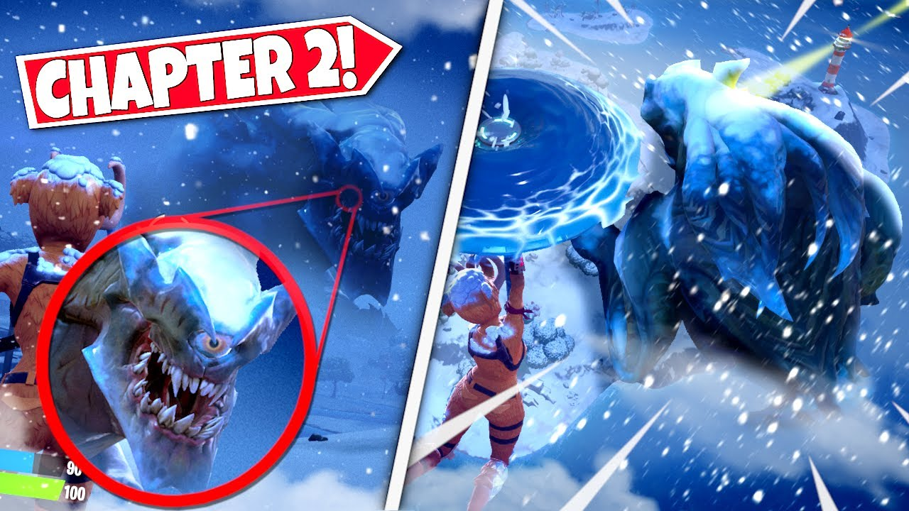 Monster Skull Fortnite New Players Seeing Giant Shadows Moving Through Snow Storm In Chapter 2 Battle Royale Youtube
