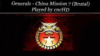 Generals Campaign - China Mission 7 (brutal)