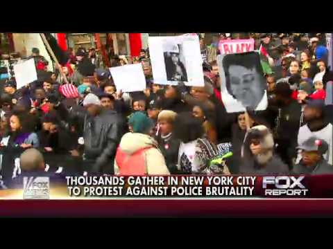 Thousands join in NYC to protest against police brutality