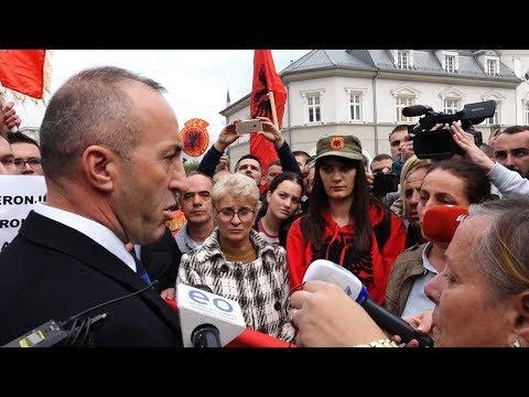Ramush Haradinaj Bisedë e Polemika me Familjarët e të Dënuarve