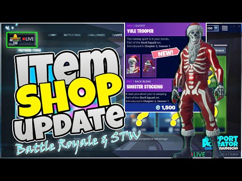 💥menamescho-s-live-🎅🏻-yule-trooper-🎄-item-shop-update-fortnite-battle-royale---sat-14-dec-19