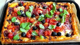 Puff Pastry Pizza Tart How to Make easy Recipe