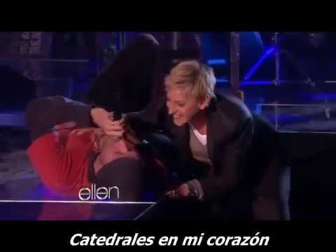 Coldplay - Every Teardrop is a Waterfall - Ellen rehearsal (Subtitulado)