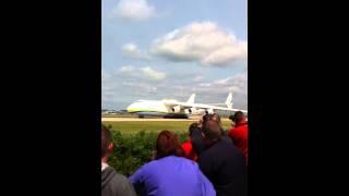 Antonov 225 departing Manchester Airport