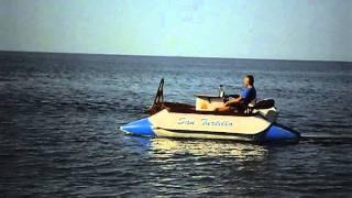 Надувной водный катамаран с электромотором Flover 55 TG(Тишина, маневренность, комфорт, устойчивость, очень-очень много места.. Рыбалка, охота, отдых на воде, микрок..., 2011-09-16T22:29:35.000Z)