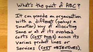 Activity Based Costing ABC A Simple Explanation