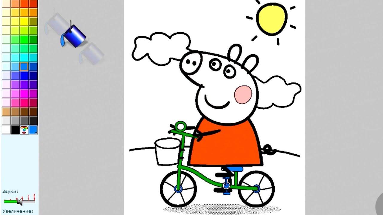 Мультфильм Свинка Пеппа на русском Раскраски для детей ...