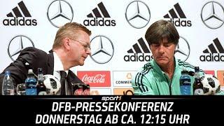 ReLIVE 🔴 | DFB-Pressekonferenz | 14.06. | WM 2018 | SPORT1