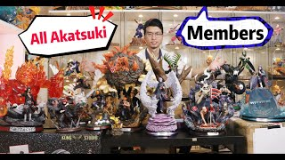 all Main AKATSUKI Members Statues In Naruto, SHOWCASING