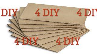 4 DIY cardboard craft idea Wall Decoration ❤️  Идеи панно из картона своими руками