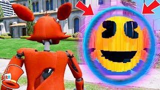 ANIMATRONICS vs PORTAL TO EVIL GIANT PACMAN DIMENSION! (GTA 5 Mods For Kids FNAF RedHatter)