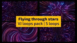 VJ Loops - Flying through stars