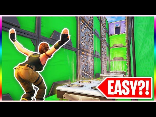 The TOTALLY EASY Default Deathrun... EASY?! (Fortnite Season 9 Creative Mode)