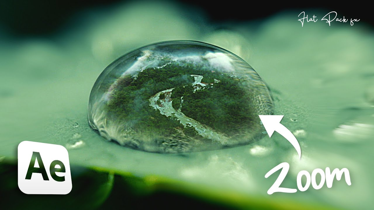 SMOOTH Water Drop Transition Effect | After Effects 2020