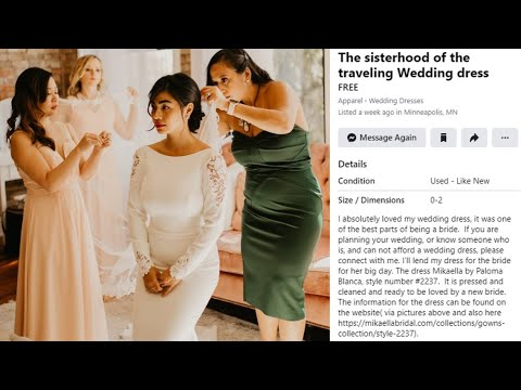 Sisterhood Of The Traveling Wedding Dress Minneapolis Bride Offers Designer Gown Free To Others Youtube