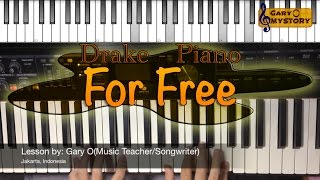 DJ Khaled Ft. Drake - For Free Song Cover Easy Piano Tutorial FREE Sheet Music NEW 2016