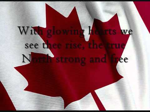 Canada's National Anthem *Lyrics in the video*