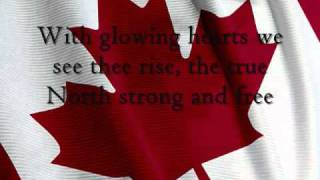 canada s national anthem lyrics in the video