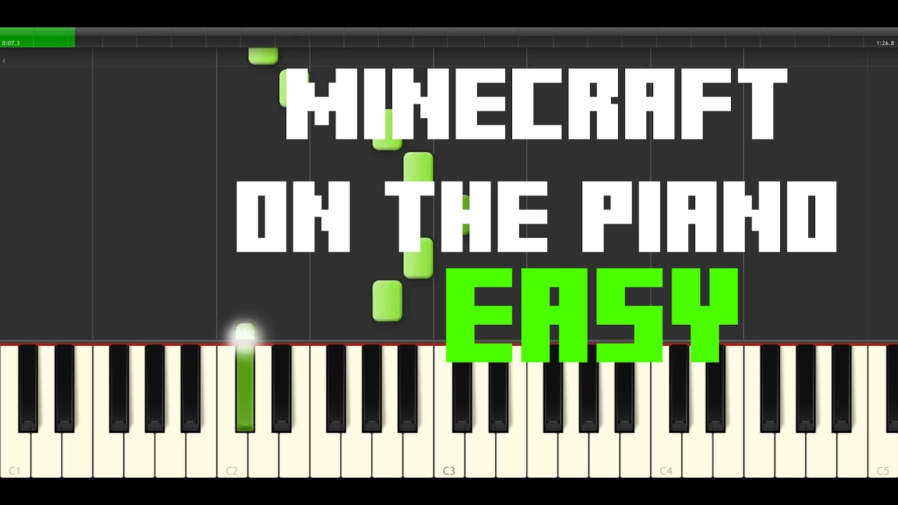 Minecraft piano music tutorial