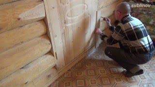 Наличник на дверь в рубленом доме своими руками.(Изготовление и монтаж наличников на дверь и окно в рубленом доме., 2016-05-16T11:14:17.000Z)