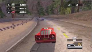 Cars: Race O Rama (PS3) Gameplay: Point to Point Racing