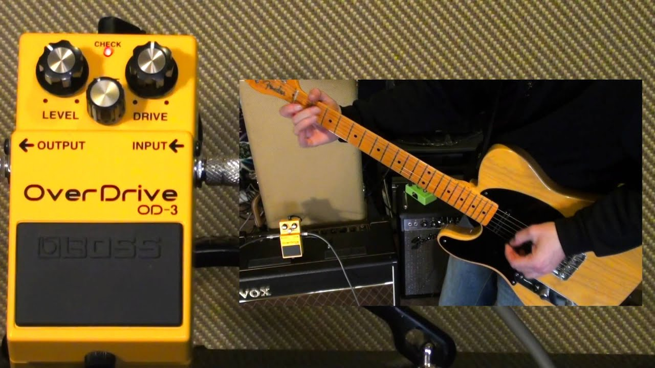 boss od 3 overdrive pedal youtube