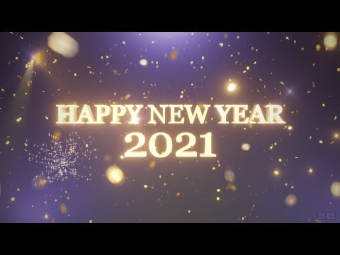 HAPPY NEW YEAR - 2021 - Countdown with fireworks - Free to use