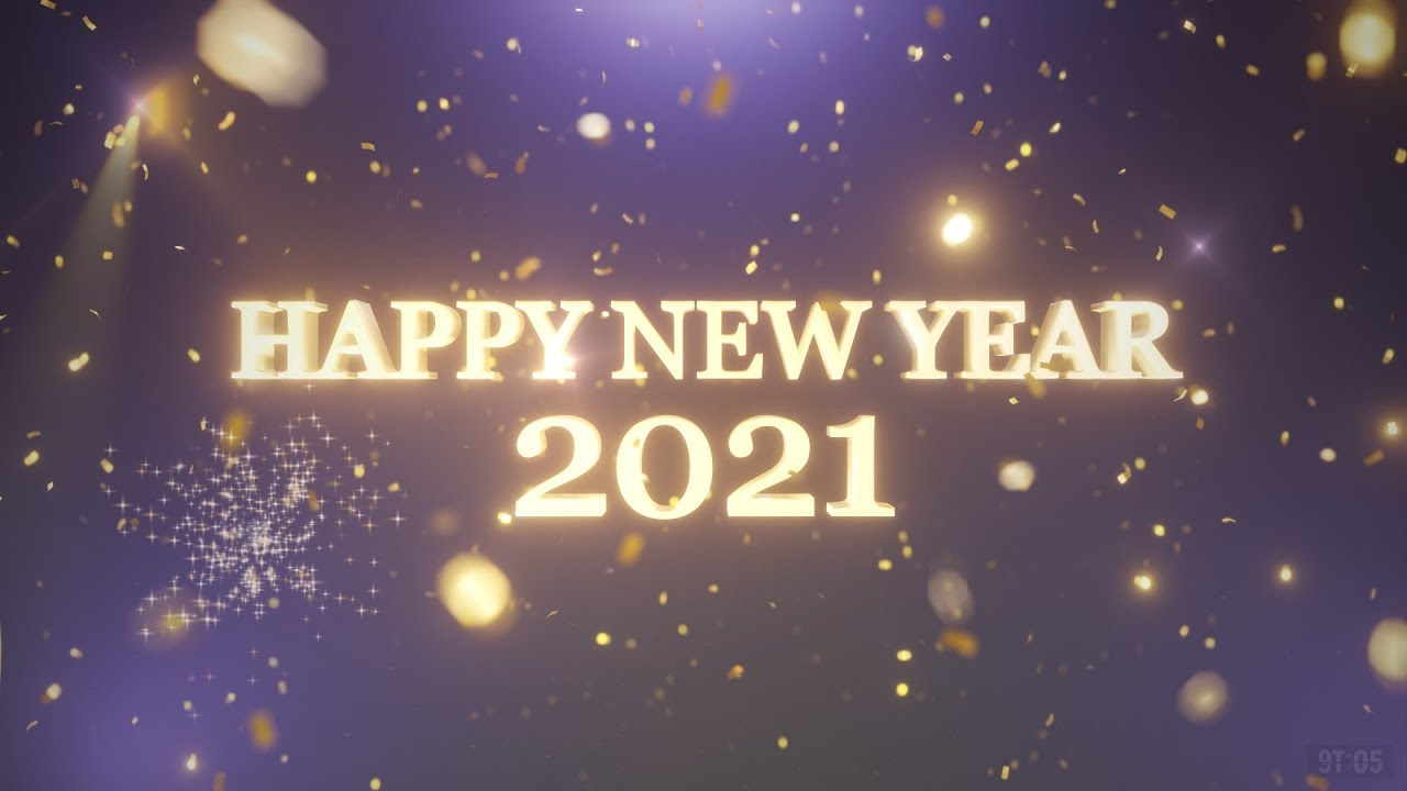 HAPPY NEW YEAR - 2021 - Countdown with fireworks - Free to use - YouTube