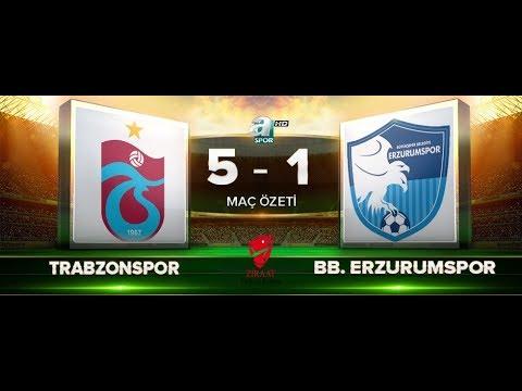 Trabzonspor: 5 - 1 BB Erzurumspor | ZTK 5. tur rövanş özet | A Spor | 12.12.2017