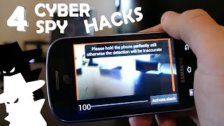 4 Incredible Cyber Spy Tricks! - Hacking, Tracking, Spying In Real Life!!!