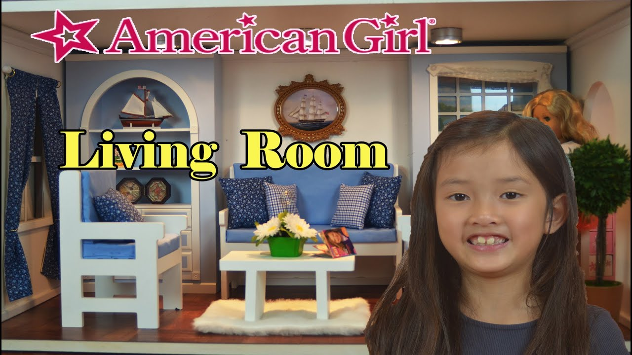 Setting Up American Girl Doll House Blue Living Room Youtube