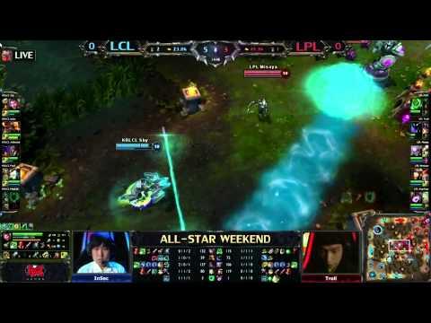 China vs Korea LoL All-Star Tournament Game 1 Highlights - inSec, Ambition, PraY, MadLife, Shy