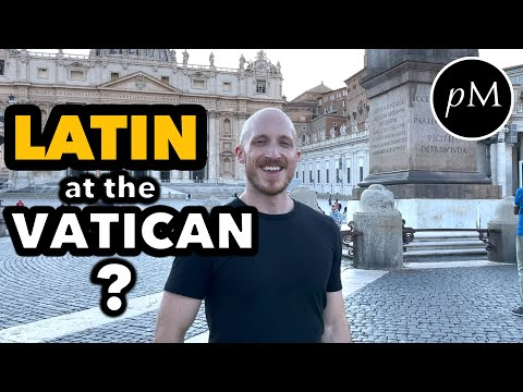 American speaks Latin at the Vatican with Priests 🇻🇦