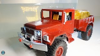 WATERPROOF WPL B1 RC TRUCK 1/16 SCALE WITH SOUNDMODUL & LIGHT