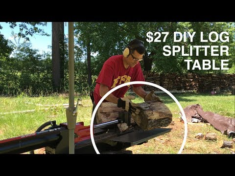 $27 DIY LOG SPLITTER TABLE (Troy Bilt)