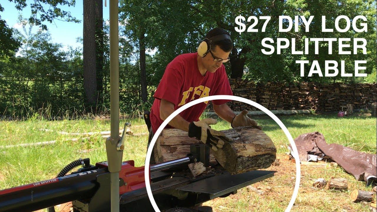 27 Diy Log Splitter Table Troy Bilt Youtube