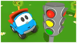 Leo the truck - Car cartoon. The traffic light. Learning video.