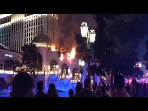 Bellagio Hotel and Casino catches fire