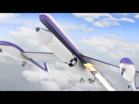 Towed Twin-Fuselage Glider Launch System (CGI Animation)