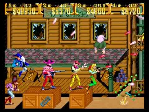 Sunset Riders 4 players arcade Netplay: game 2